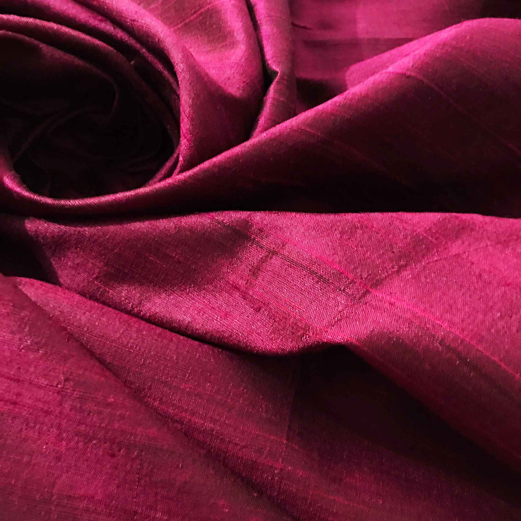 Grape Raw Silk Fabric