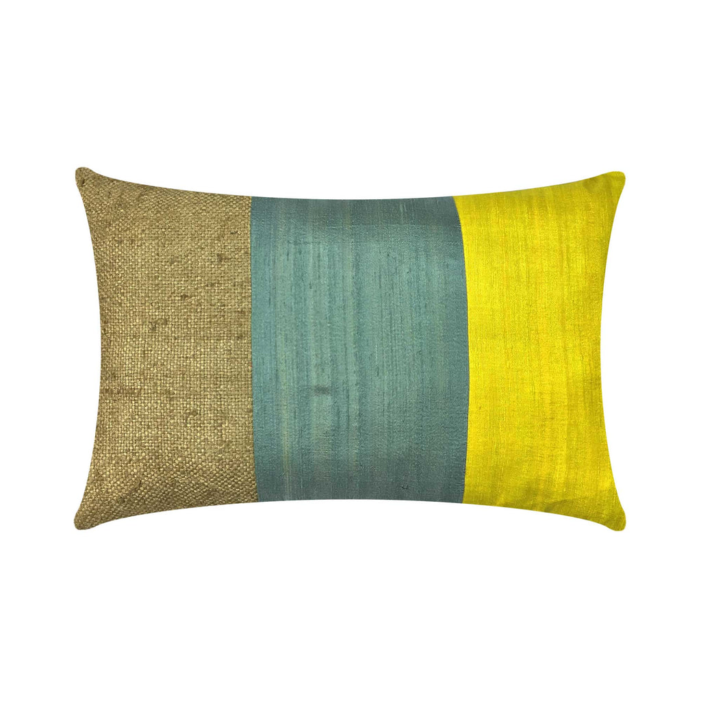 Bhagalpuri Jute Silk Pillow Cover Buy online from India