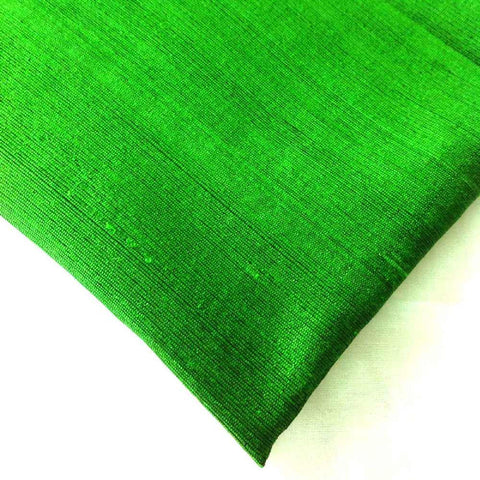 Emerald Green Dupioni Silk - Raw Silk from India