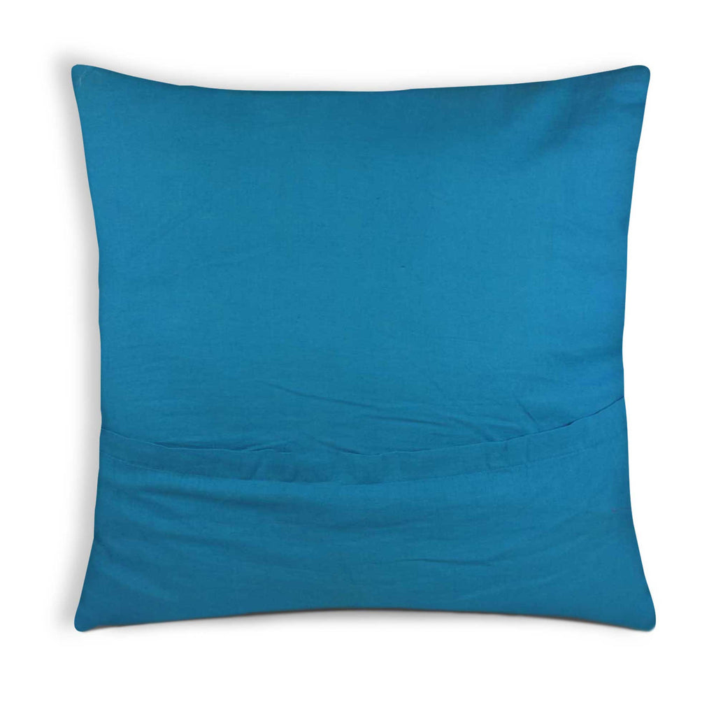 Teal and Olive Cotton Pillow Cover Buy Online From India