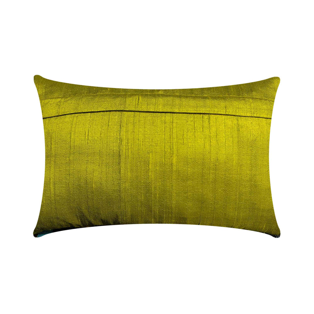 Chartreuse Sari Silk Pillow Cover