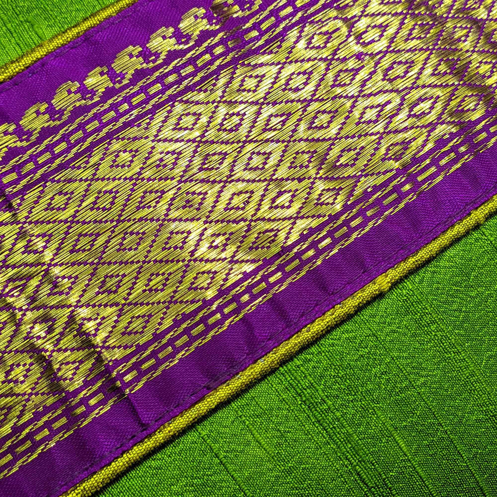 Handmade Sari Silk Pillow Cover