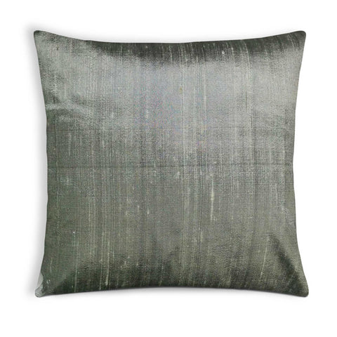 Grey Raw Silk Cushion Cover