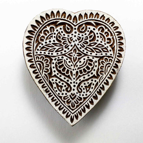 Heart Shape Block Printing Stamp