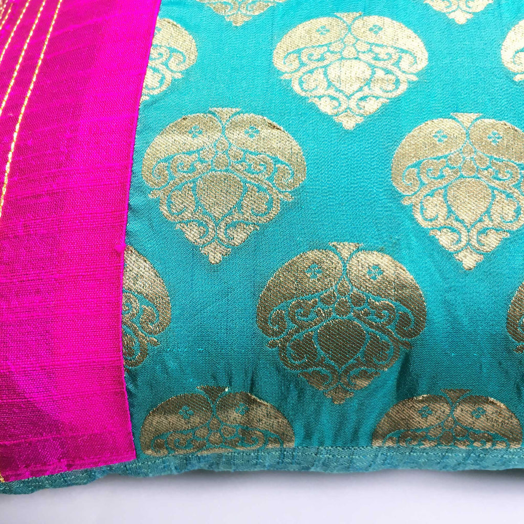 Fair trade silk pillow cover buy online
