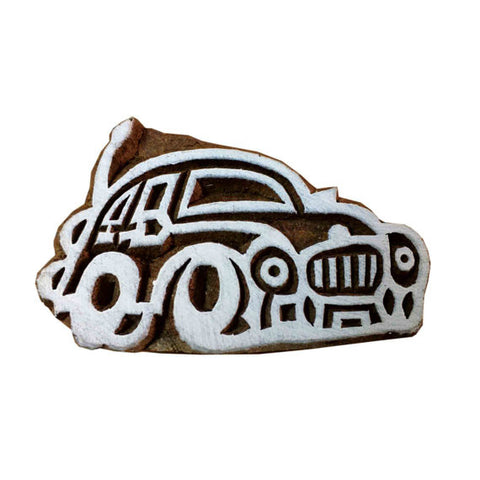 Beetle Car Wooden Block Printing Stamp