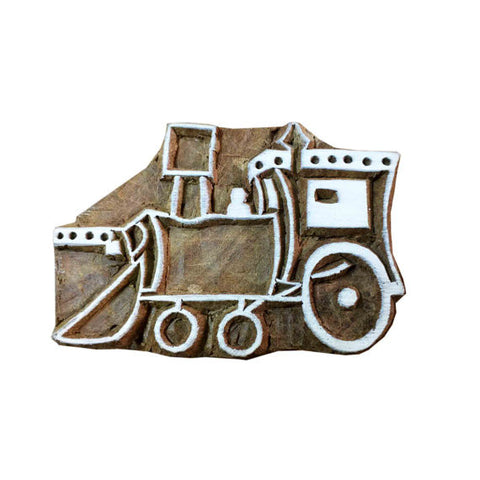 Farming Vehicle Wooden Stamp for Printing