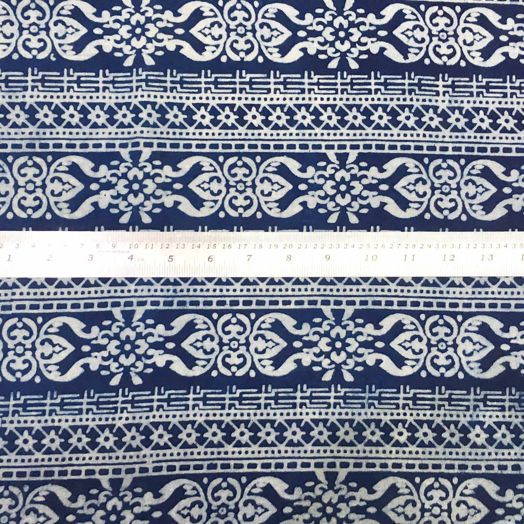 Dabu print cotton fabric by DesiCrafts