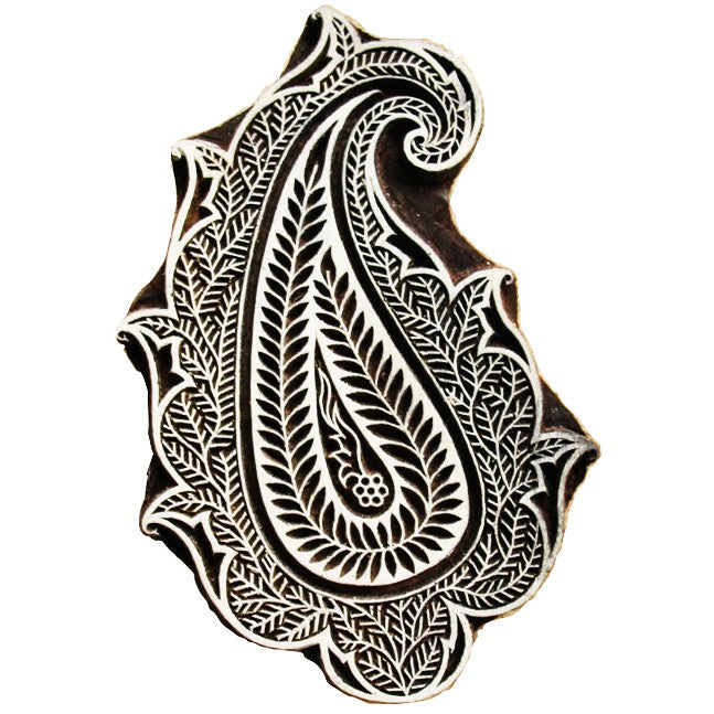 Paisley Wooden Stamp for Block Printing Buy Online From DesiCrafts