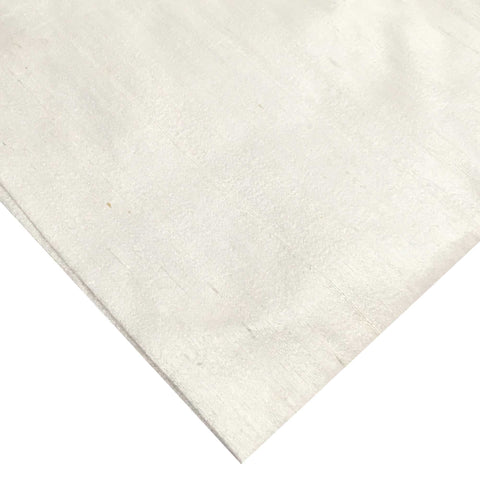 White Ivory pure silk fabric