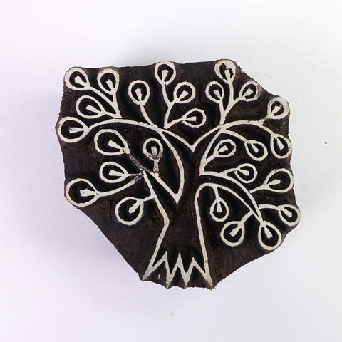Small Tree Wooden Stamp For Printing