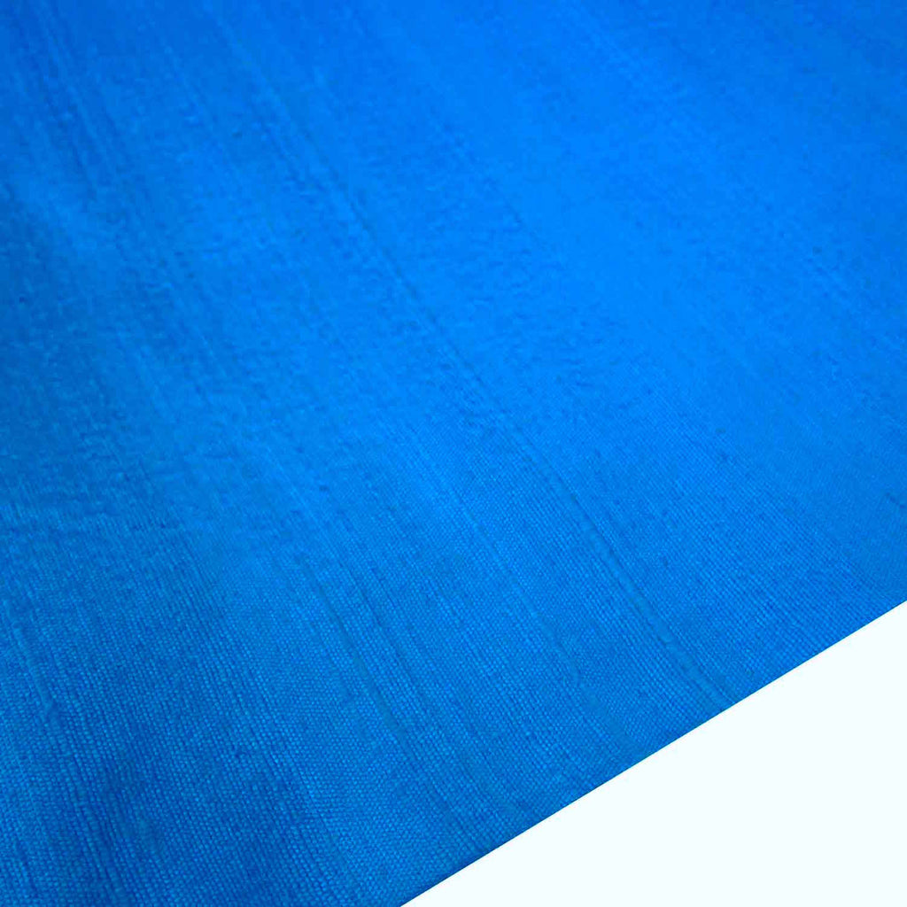 Light Turquoise Pure Raw Silk Fabric