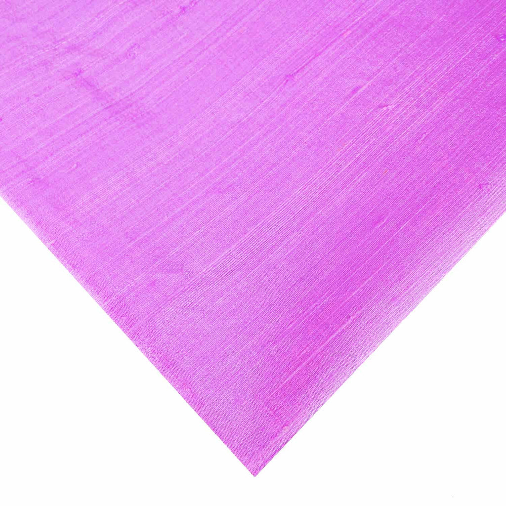 Matte Finish Lilac Pure Dupion Silk Fabric By DesiCrafts