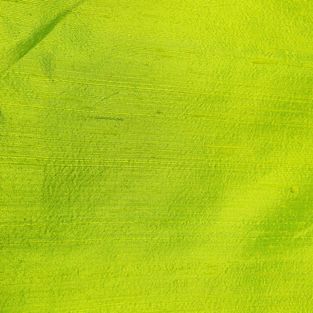 Lime Green Raw Silk from India