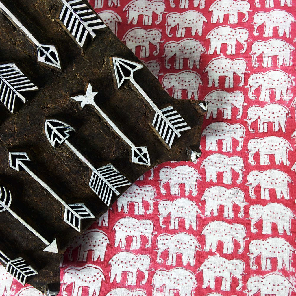 Cute Elephants Soft Cambric Cotton Fabric Fairtrade Handmade Fabric