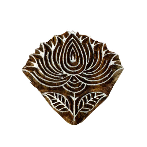 Lotus flower wood stamp