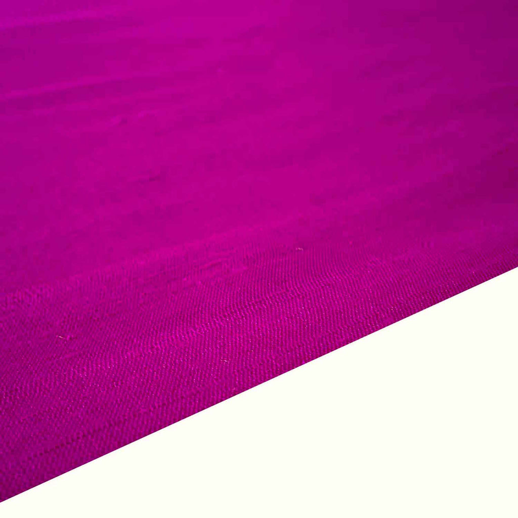 Fuchsia Magenta Matte Finish Pure Raw Silk Fabric Buy from DesiCrafts