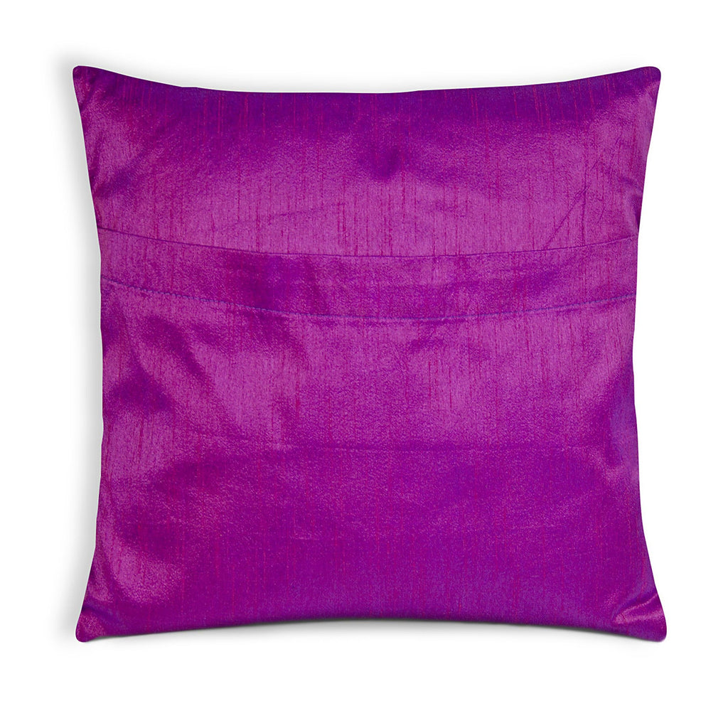envelope style pillow cover in purple and silver