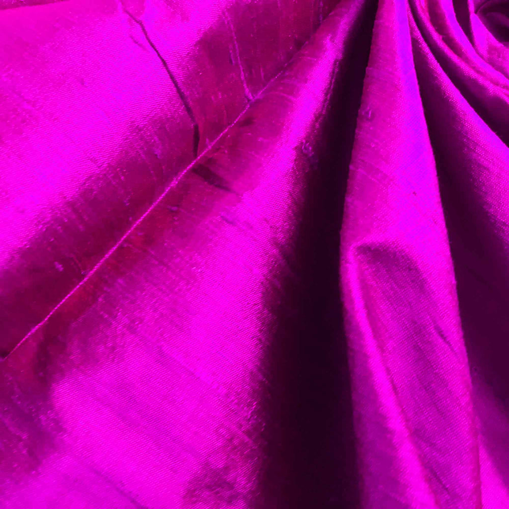 Dark Magenta Raw Silk Fabric