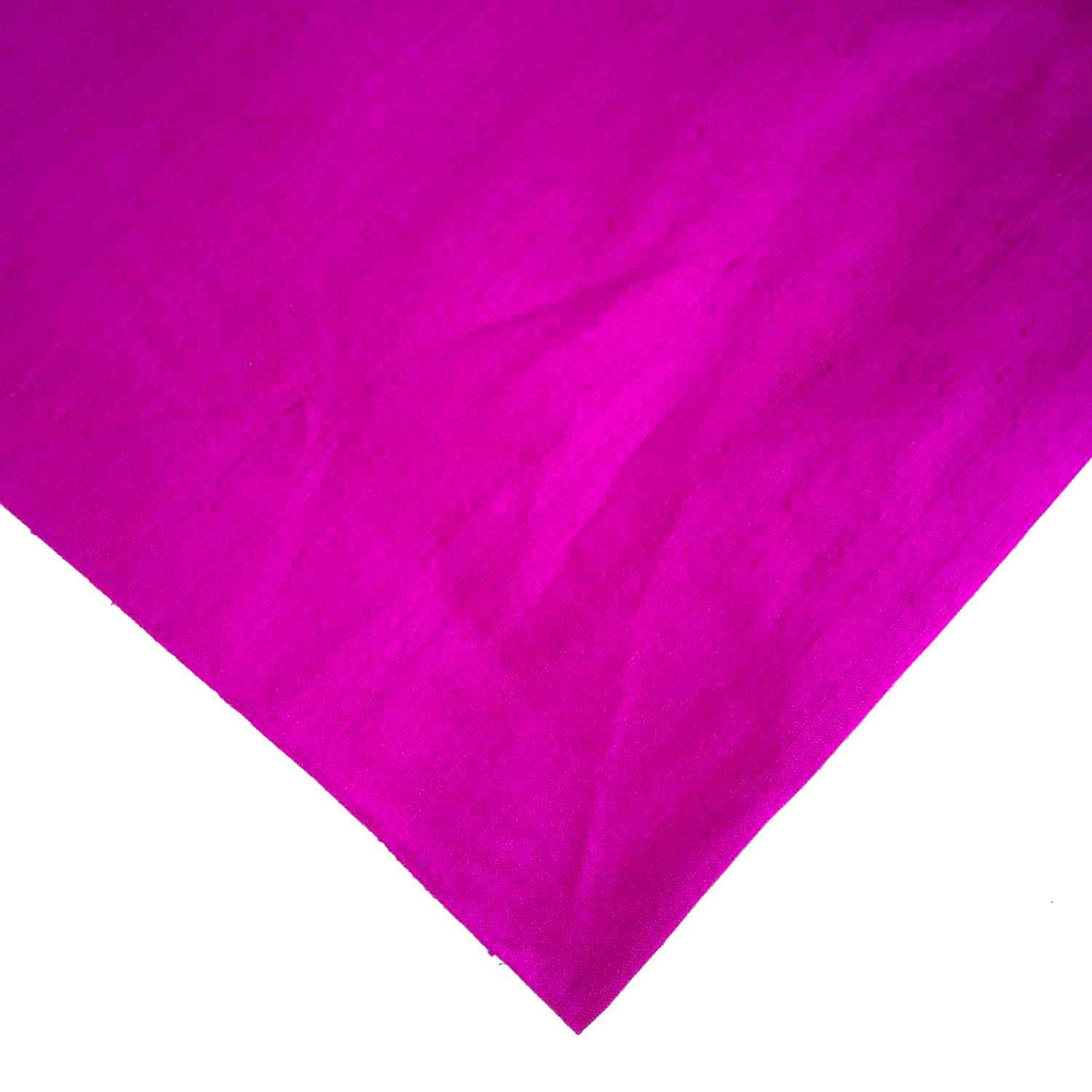 Fuchsia Magenta Matte Finish Pure Raw Silk Fabric