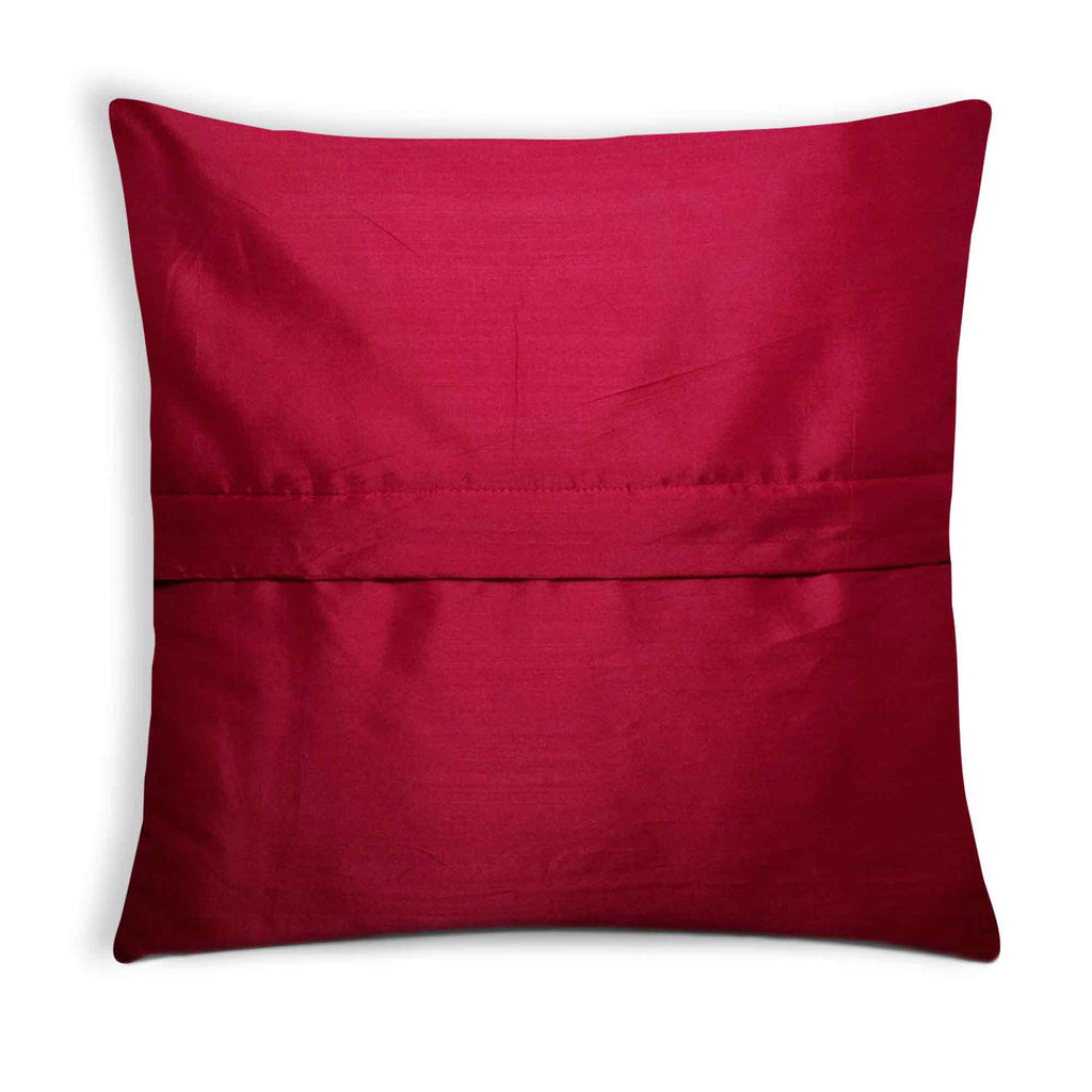 Yellow and Maroon Cotton Cushion Cover
