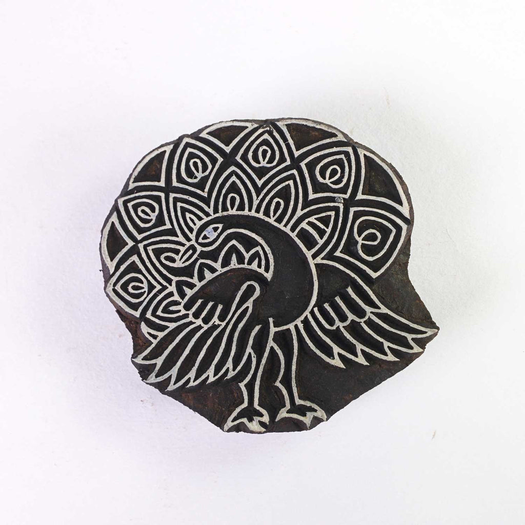 Mayura Wooden Stamp For Printing