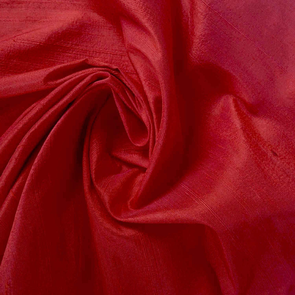 Matte Red Pure Dupion Silk Fabric Buy from DesiCrafts