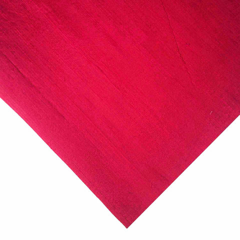 Matte Red Pure Dupion Silk Fabric