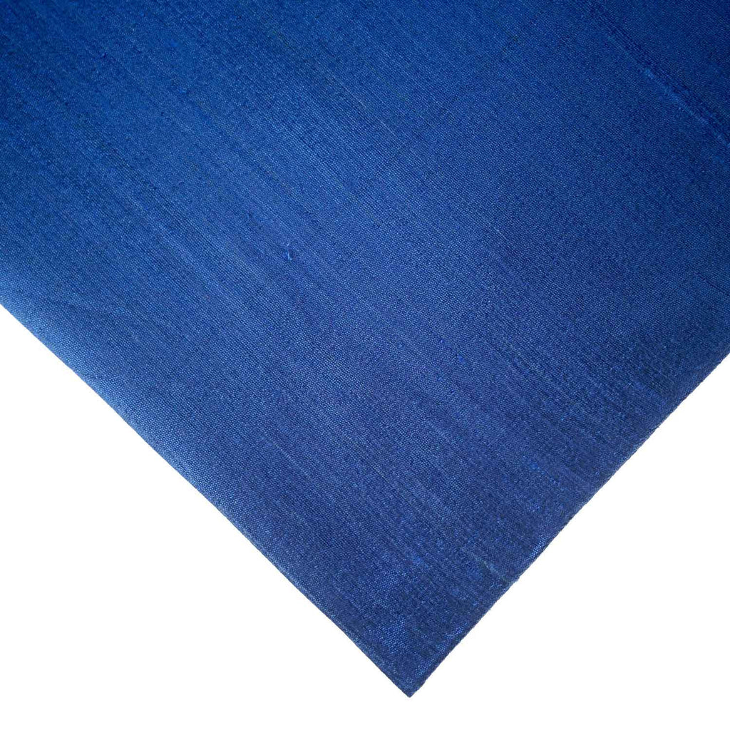 Midnight Blue Pure Raw Silk Fabric By DesiCrafts