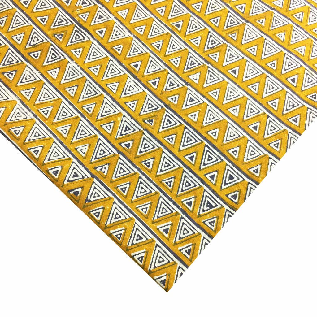 Mustard and Grey Cotton Fabric Buy Online