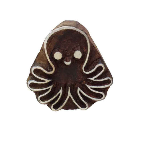 Octopus Wooden Block Printing Stamp