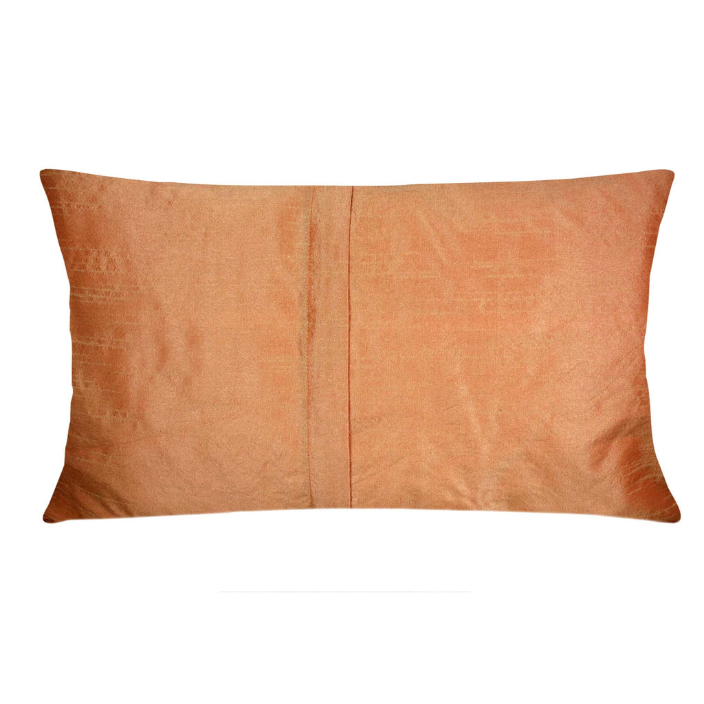 burlap silk color block pillow cover buy online