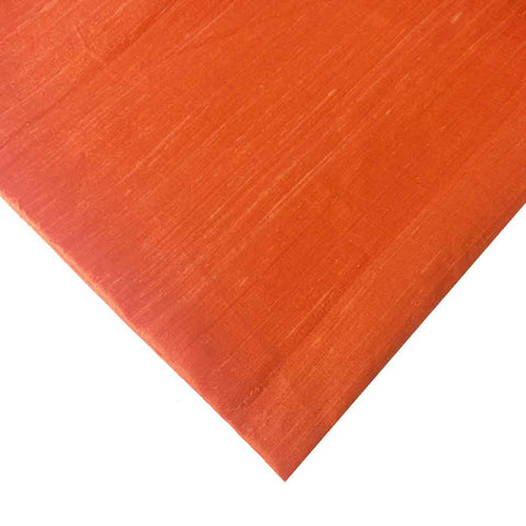 Tangerine Pure Dupion Silk Fabric