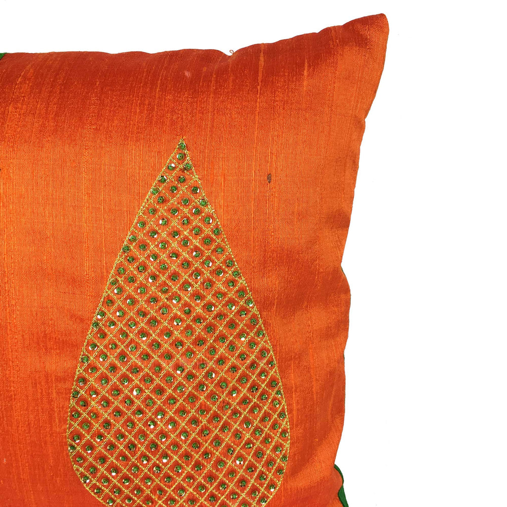 Raw silk cushion covers by DesiCrafts