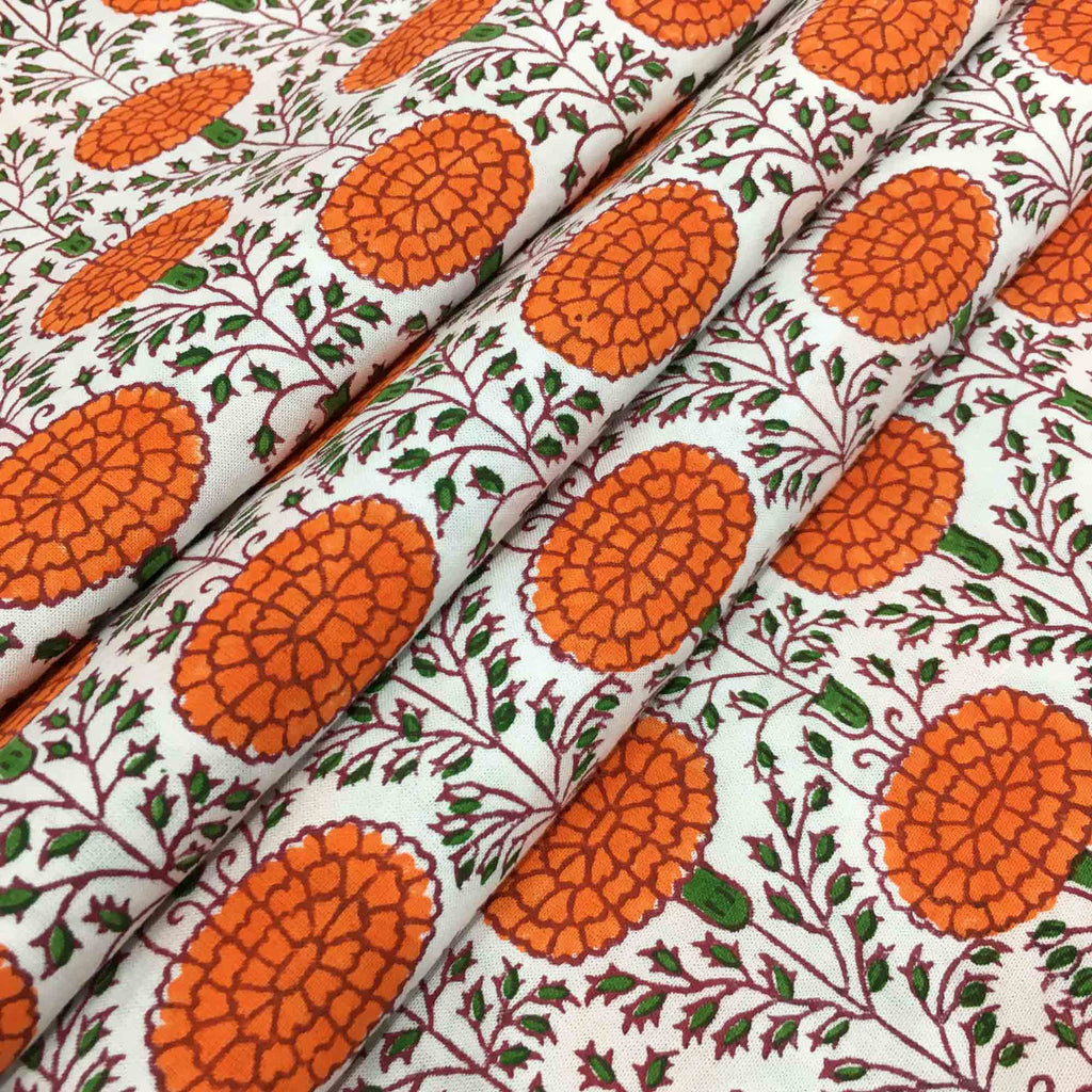 Hand block printed fabric buy online from DesiCrafts