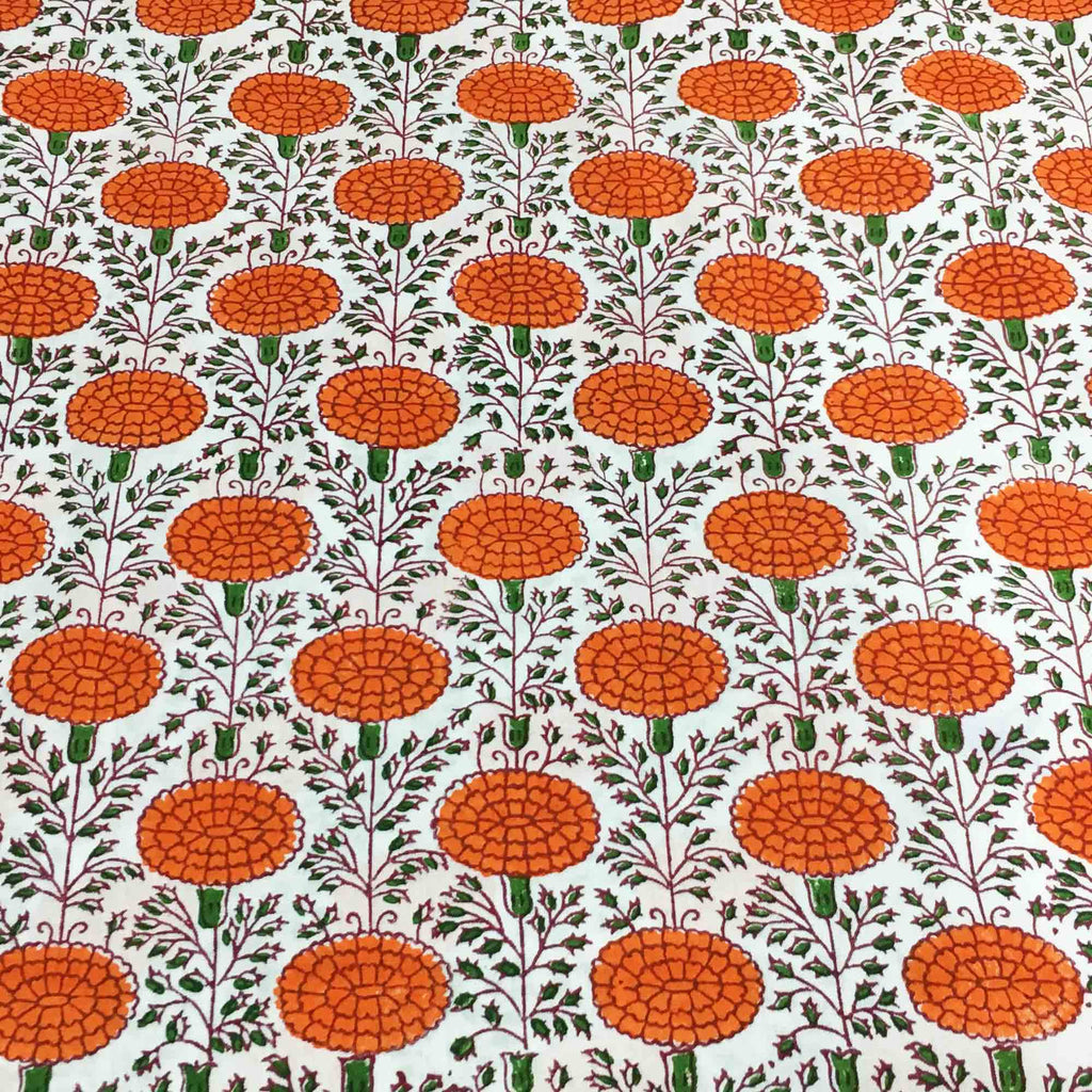 Floral print cotton fabric by DesiCrafts