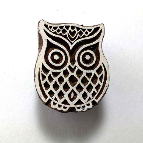 Owl Stamp For Fabric Printing