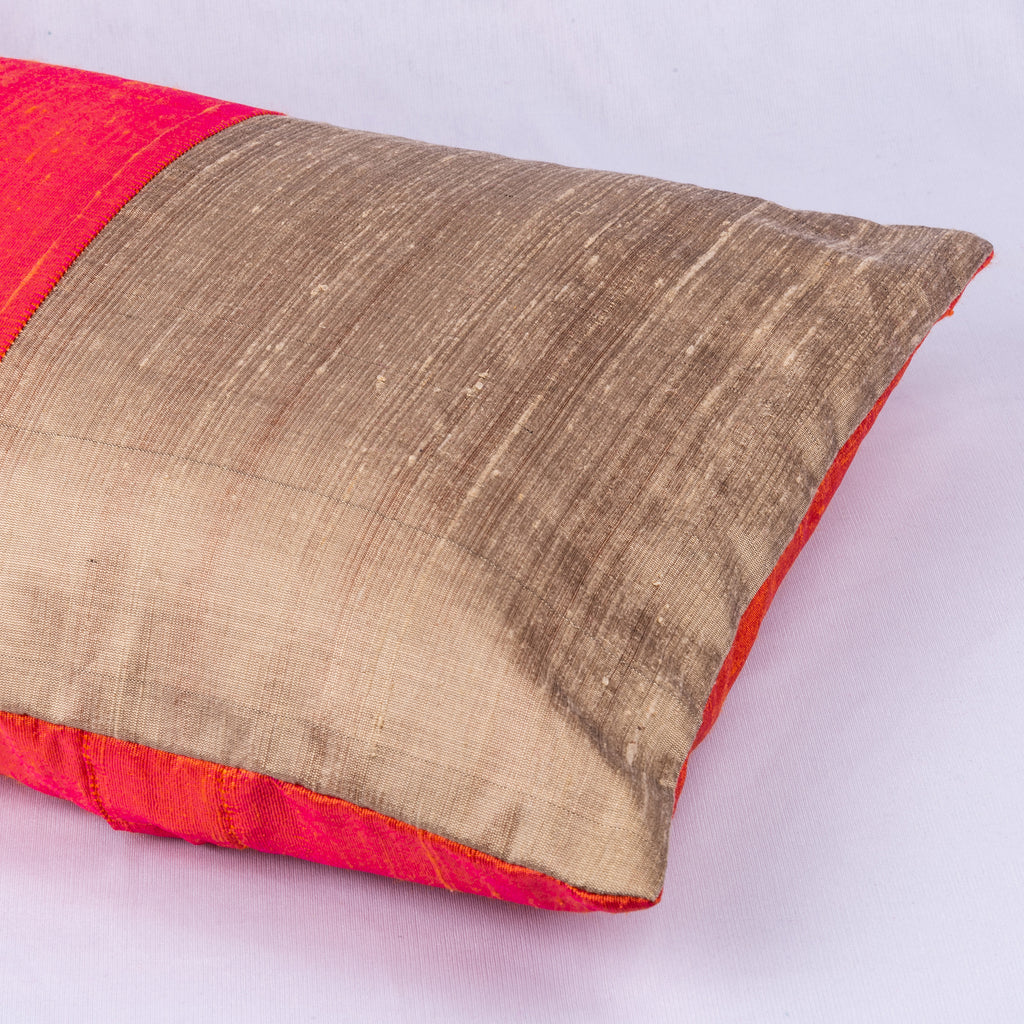 Indian Silk Pillow Cover By DesiCrafts
