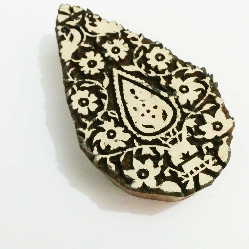 Tree Paisley Wooden Stamp For Hand Block Printing