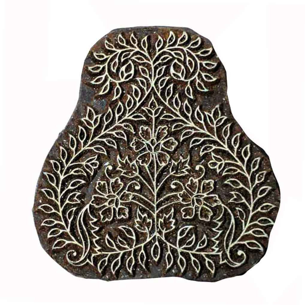 Paisely Wooden Block Printing Stamp buy online from India