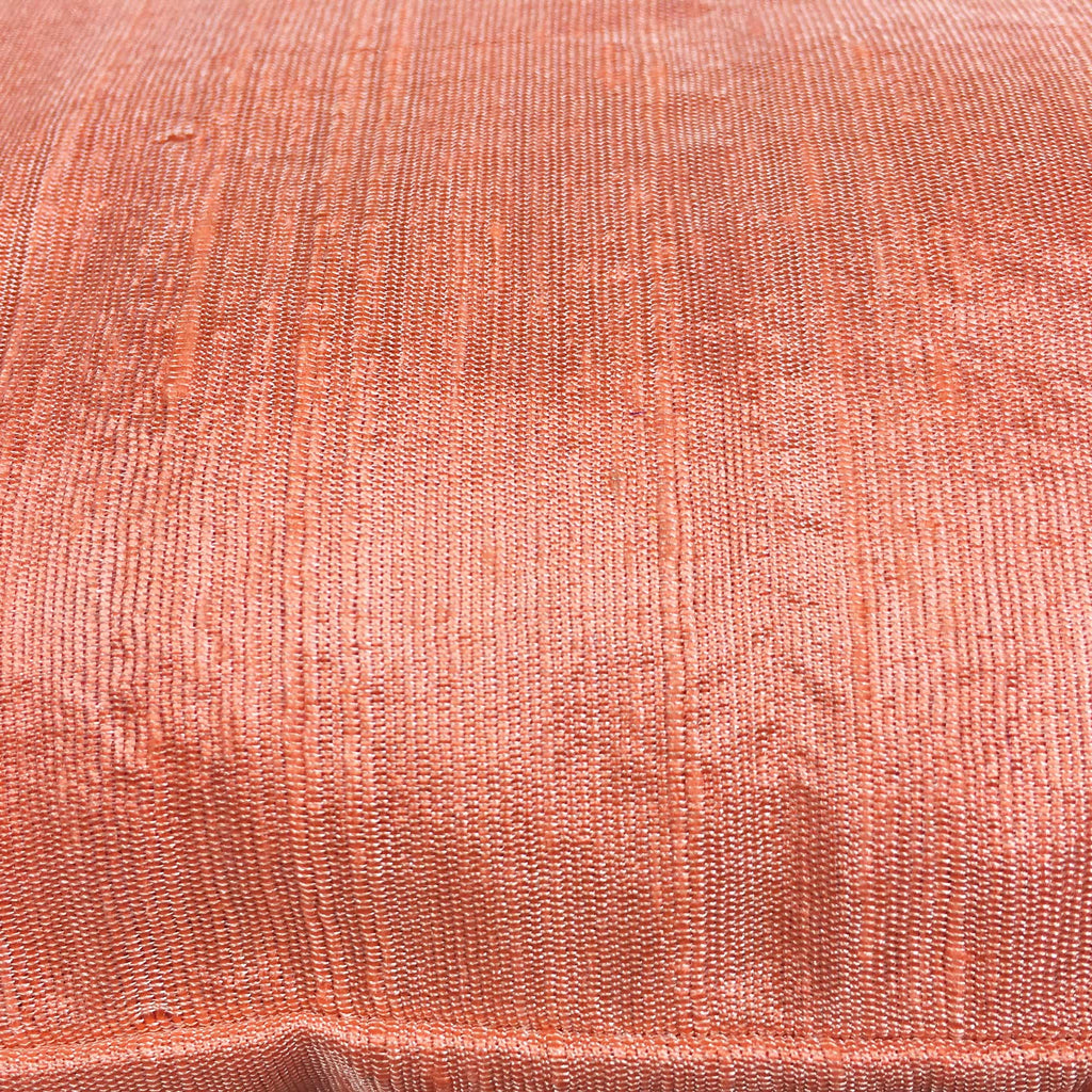 Peach silk pillow cover by DesiCrafts