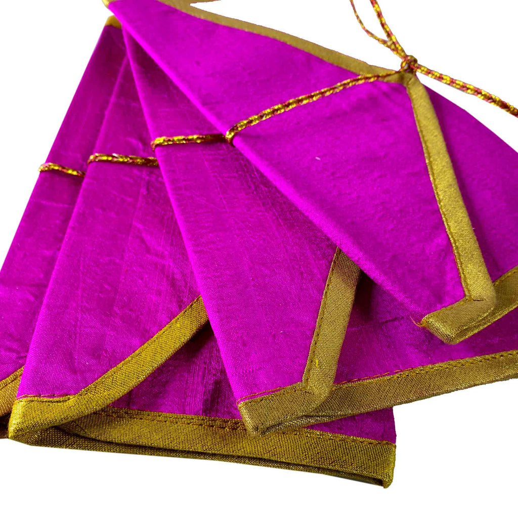Pink Gold Silk Fabric Gift Envelopes - Set of 5