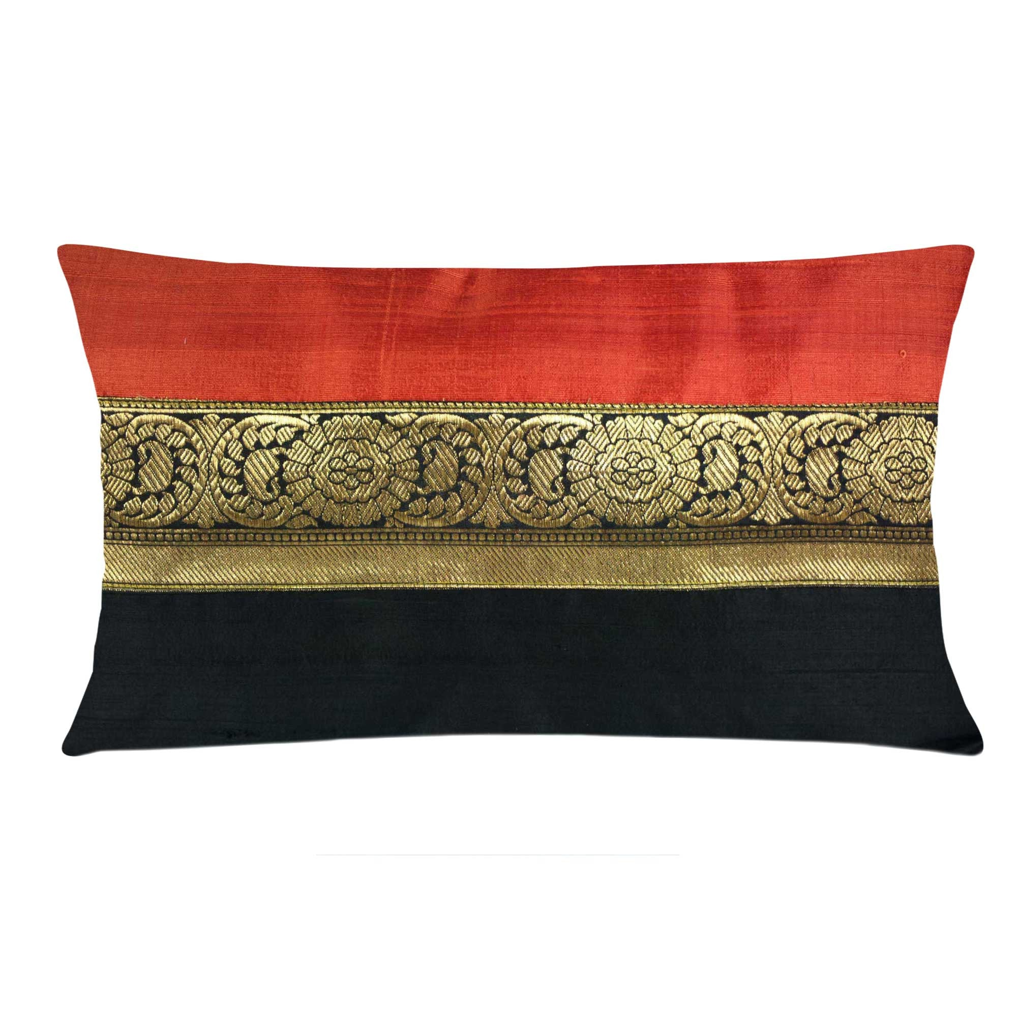 Indian Silk Pillow Covers Silk and Cotton Cushion Covers