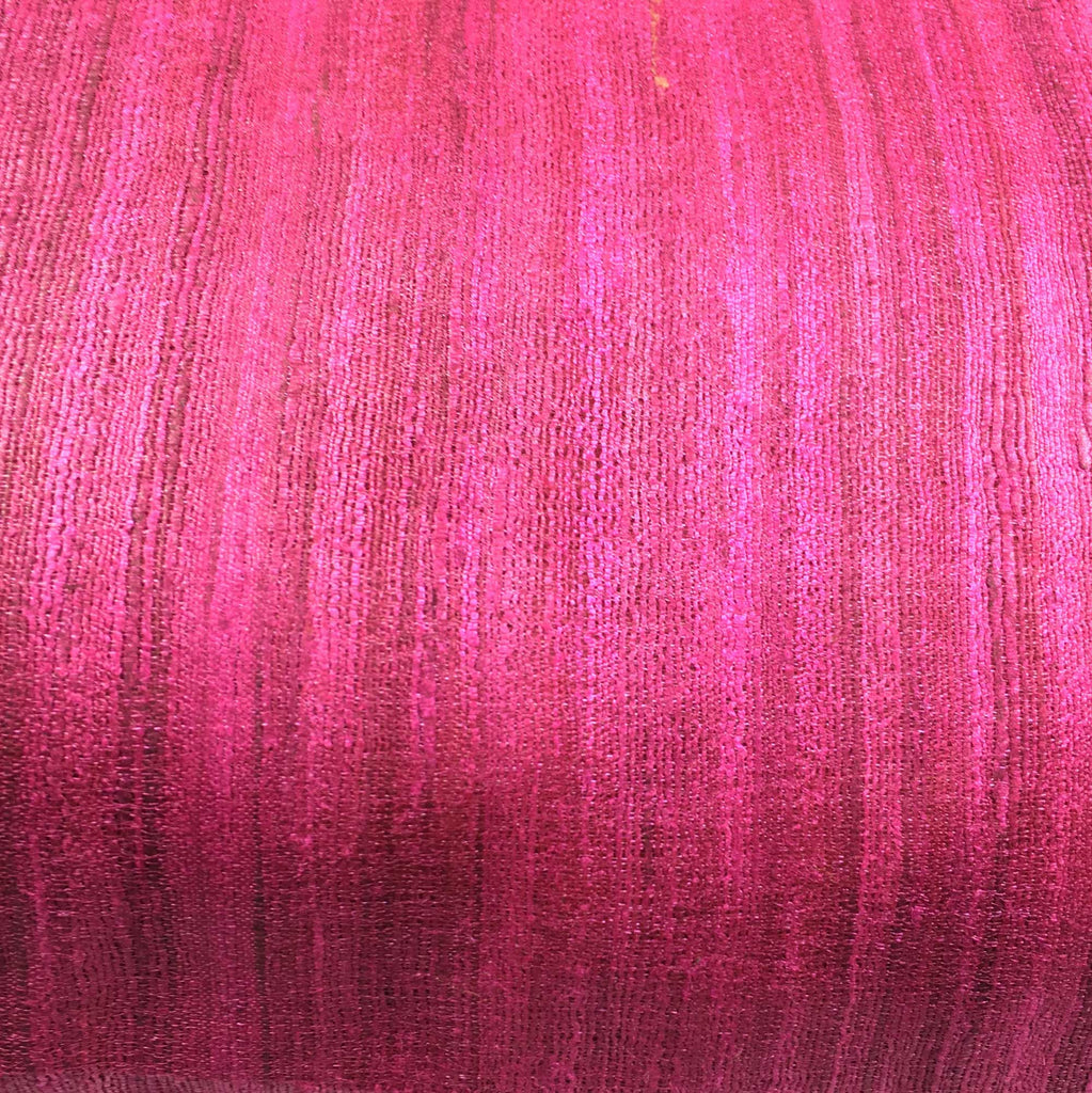 Solid magenta tussar silk lumbar pillow cover buy online