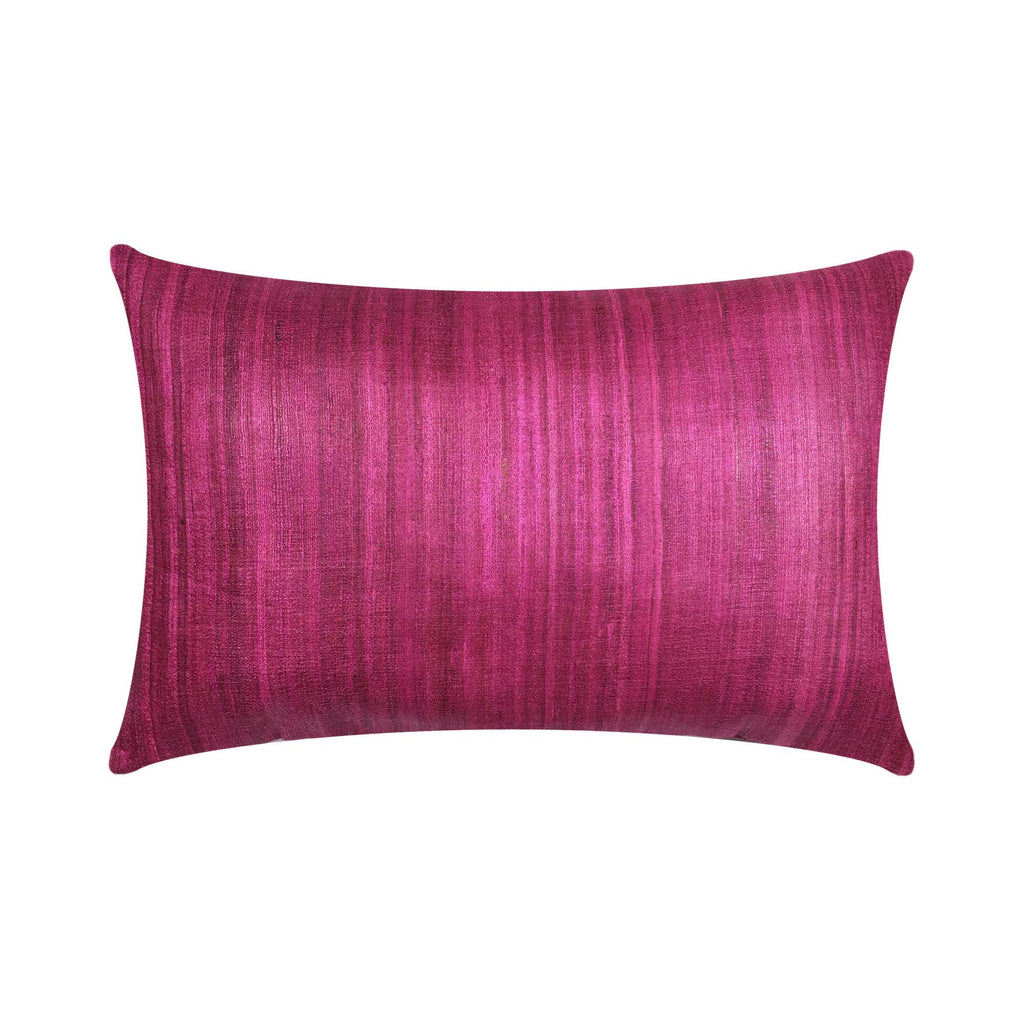 Solid magenta tussar silk pillow cover buy online