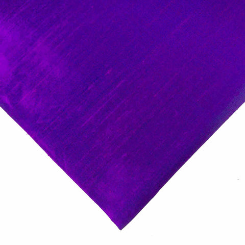 Purple Two Tone Pure Dupion Silk Fabric