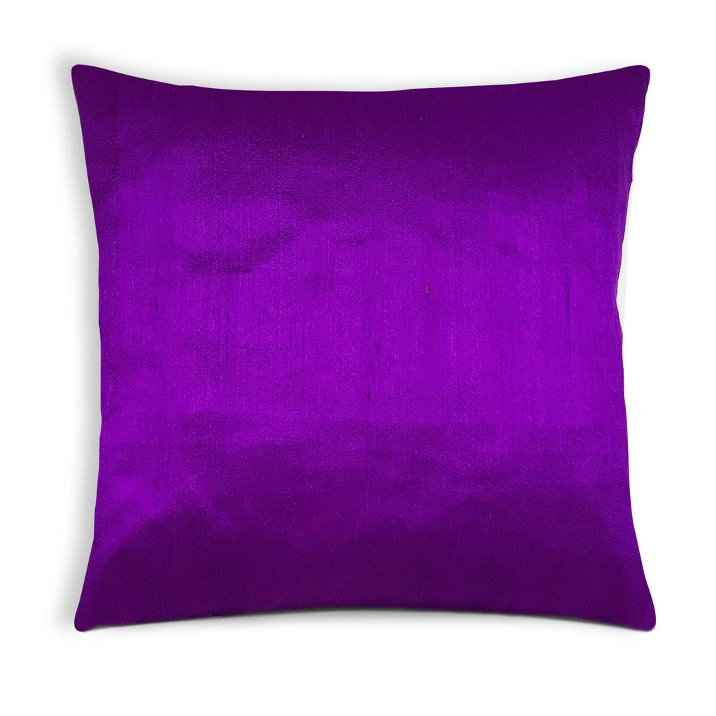 Purple Raw Silk Pillow Cover Buy Online From DesiCrafts