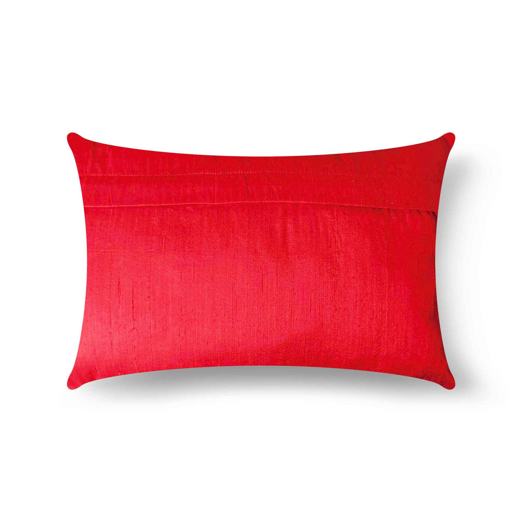Pure Silk Purple and Red Pillow