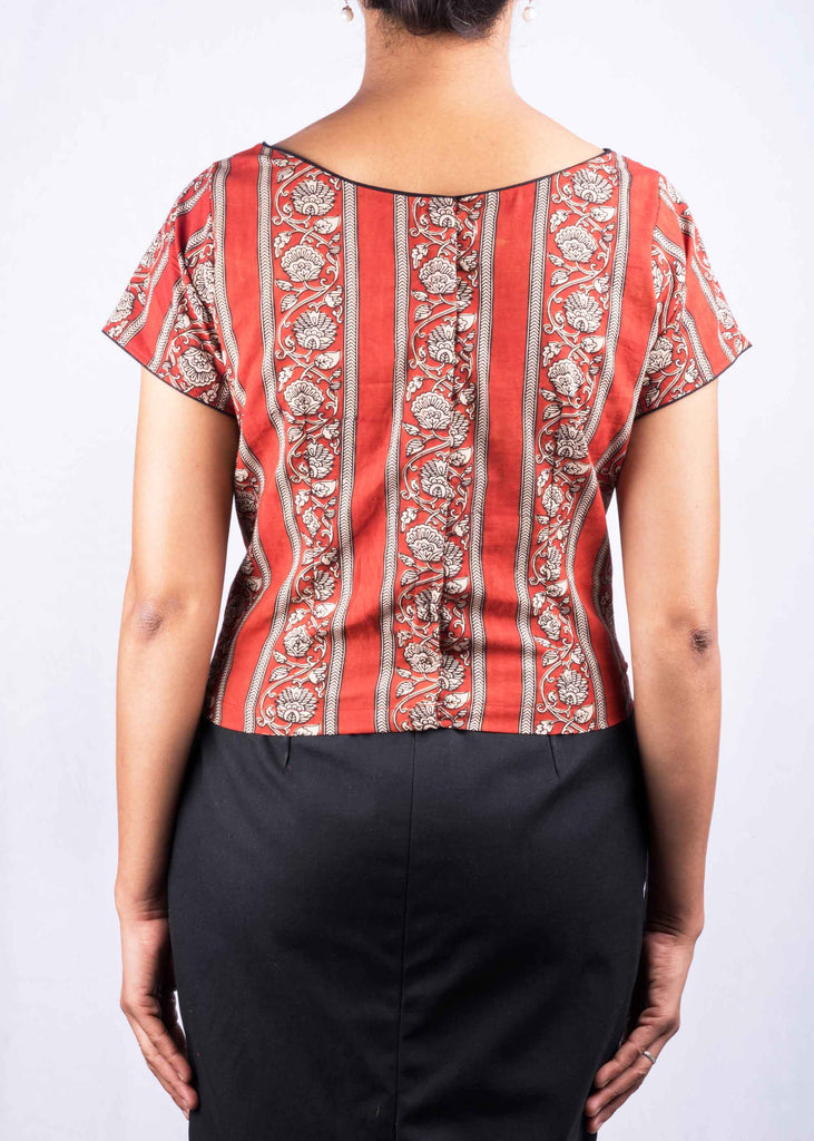 Hand Block Printed Crop Top Buy Online from DesiCrafts