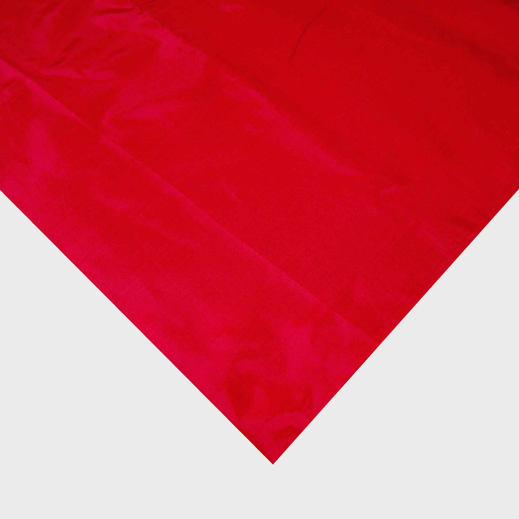 Deep red soft pure silk fabric for dresses and more